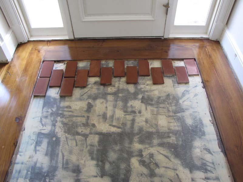 Brick Tile Flooring : Brick floor tile installation photos acadian