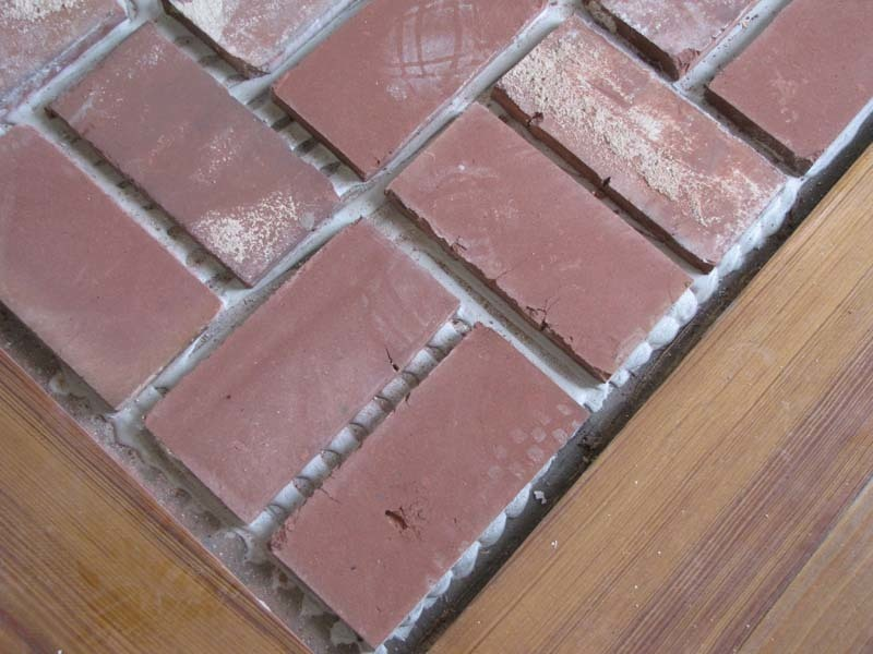 Brick Floor Tile Installation Photos Acadian Brick